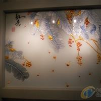 西安浮雕玻璃 冰雕玻璃 艺术玻璃