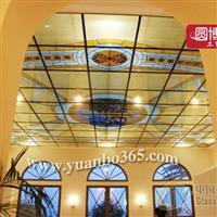 欧式教堂彩绘玻璃穹顶