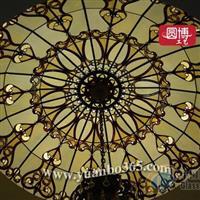 高端定制教堂玻璃,彩色玻璃穹顶
