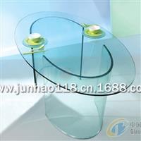 广东椭圆形玻璃餐桌,玻璃工艺品