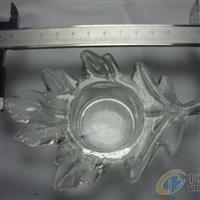 玻璃烛台 压制玻璃 树叶托