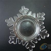 玻璃烛台 压制玻璃工艺品雪花托