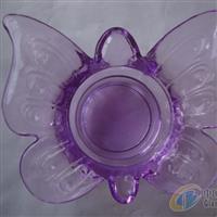 压制玻璃工艺品蝴蝶烛台