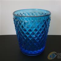 压制玻璃工艺品玻璃杯钻石烛台