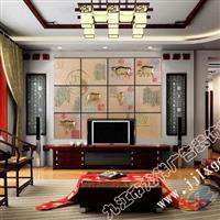 龙祥艺术玻璃工艺-酒店背景墙
