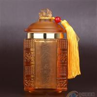 工艺工艺品琉璃玻璃茶叶罐