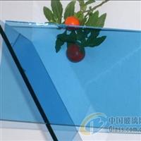佛山5mm威海蓝钢化玻璃