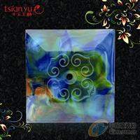 千玉琉璃彩色方形圆孔装饰砖
