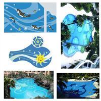 玻璃马赛克游泳池 拼图