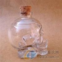 供应180ml骷髅头玻璃酒瓶