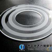灯具用圆形玻璃片(印刷)