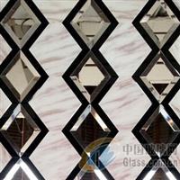河北高档装饰镜\5厘黑镜条+10厘超白镜(斜边30)+大理石