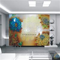 艺术玻璃 电视背景墙  屏风隔断