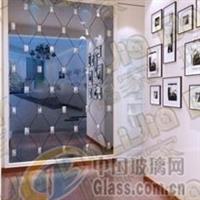 太原玻璃门隔断 装饰玻璃定做