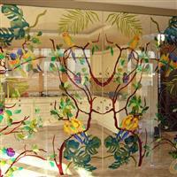 彩晶立线玻璃 吊顶背景墙装潢