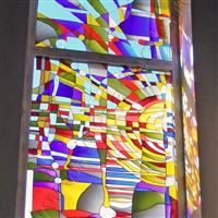彩晶立线玻璃 装潢用
