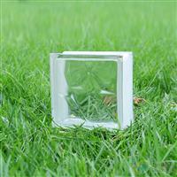 透明双星纹玻璃砖