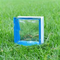 边彩蓝玻璃砖
