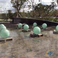 广场雕塑叠层流水玻璃球