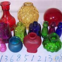 各种喷色工艺玻璃瓶