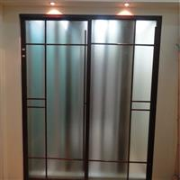 安装无框玻璃门平开门玻璃隔断