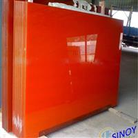 橙烤漆玻璃
