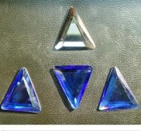 义乌采购-三角蓝色玻璃水钻