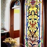 供应教堂风格彩绘玻璃门