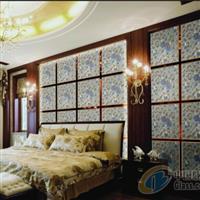 芬芳百合 银白 背景墙玻璃