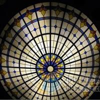 欧式彩绘穹顶玻璃