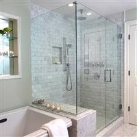 朝阳区望京安装玻璃门浴室玻璃门