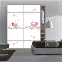 衣柜門玻璃超白5D愛情誓言