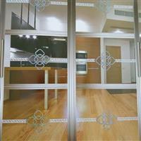 钛金隔断透明拼割彩晶阳台门厨房门卫生间门移门推拉门艺术玻璃门