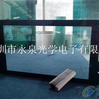 触摸广告视屏掏空玻璃