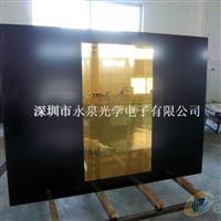金色镜面玻璃面板