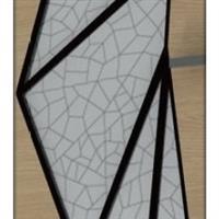 艺术玻璃(白底暗条纹)