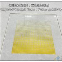 彩釉钢化玻璃:黄色渐变圆点