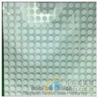 彩釉钢化玻璃:白色圆点