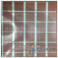 彩釉钢化玻璃:方块横格