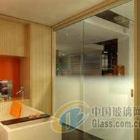 浴室不透明玻璃移动门,渐变玻璃