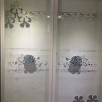 钛金隔断透明银纹彩晶玻璃