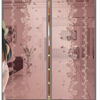 UV彩镜淋漆普白移门玻璃推拉门衣柜玻璃