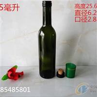 供应375墨绿色红酒瓶