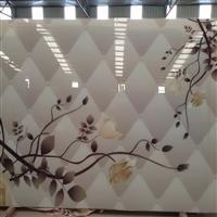供应仿软包艺术玻璃背景墙