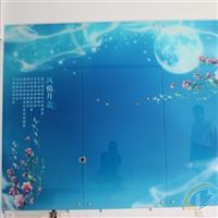 钢化玻璃背景墙