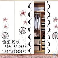 沙河佳汇厂家直供打印喷绘写真衣柜艺术玻璃
