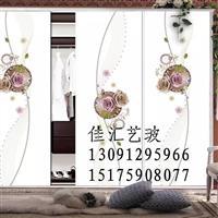 打印喷绘写真衣柜门推拉门阳台门隔断门艺术玻璃门