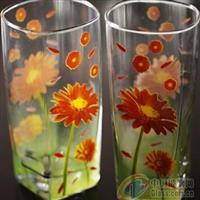 时尚玻璃杯花纸