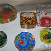 幻彩玻璃烟灰缸花纸