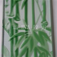 玻璃EVA胶片竹子喷绘效果图